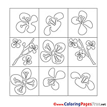 Decoration Spring Coloring Pages free