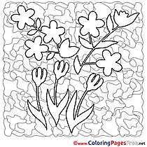 Flowers Spring Coloring Pages free