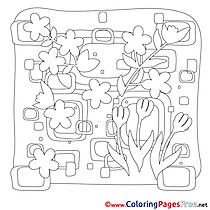 Image Spring Coloring Pages free