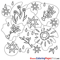 Kids Spring Coloring Page Sun