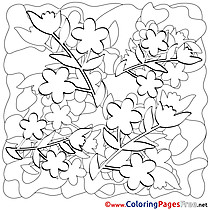 Spring Kids Coloring Pages