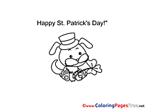 Dog St. Patricks Day Coloring Pages free
