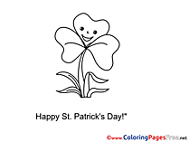 Flower Kids St. Patricks Day Coloring Pages