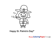Happy St. Patricks Day Man Kids Coloring Pages