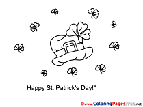 Hat free Colouring Page St. Patricks Day