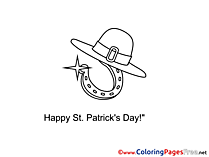 Horseshoe for Kids St. Patricks Day Colouring Page