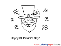 Leprechaun download St. Patricks Day Coloring Pages