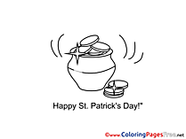 Money Pot download St. Patricks Day Coloring Pages