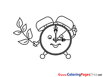 Alarm Clock download Summer Coloring Pages