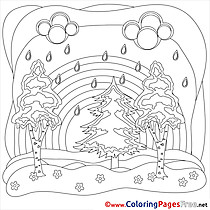 Bad Weather Colouring Sheet download Summer Rain