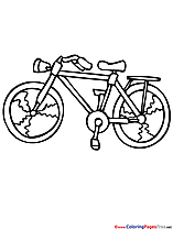 Bicycle Summer Colouring Sheet free