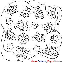Decoration free Summer Butterflies Coloring Sheets