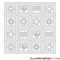 Decoration printable Coloring Pages Summer