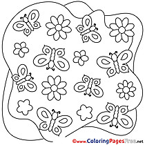 Decoration Summer Colouring Sheet free