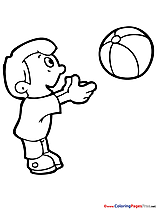 Game Ball free Summer Coloring Sheets