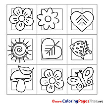 Image free Colouring Page Summer Decoration
