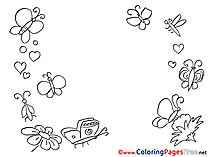 Insects Coloring Pages Summer