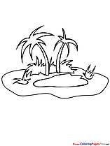 Oasis printable Summer Coloring Sheets