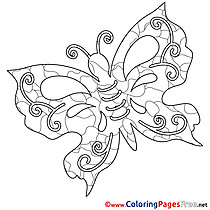 Printable Butterfly Summer Coloring Sheets