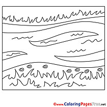 River Children Summer Colouring Page