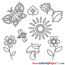 Strawberry Summer free Sun Coloring Pages
