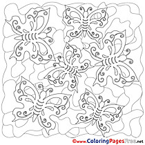Summer Coloring Pages download Butterflies