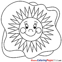 Sun Colouring Page Summer free