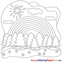 Woods Coloring Sheets Summer free Sun
