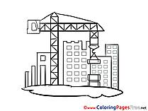 Crane Kids free Coloring Page