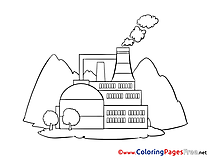 Factory Coloring Sheets download free