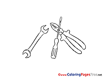 Instruments for free Coloring Pages download