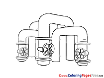 Pipes Colouring Page printable free