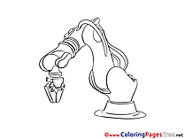 Robot Children download Colouring Page