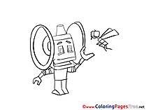Robot printable Coloring Pages for free