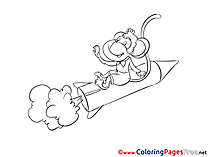 Rocket download printable Coloring Pages