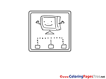 TV free Colouring Page download