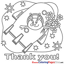 Alien Spaceship Coloring Pages Thank You for free