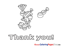 Candies Thank You Coloring Pages download