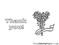 Flowers download Thank You Coloring Pages
