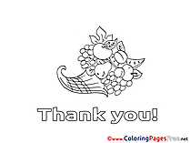Fruits Coloring Sheets Thank You free