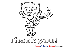 Musician Thank You free Coloring Pages