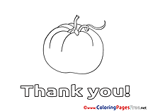 Pumpkin Thank You Colouring Sheet free