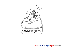 Ring Colouring Sheet download Thank You