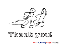 Shoes printable Coloring Pages Thank You