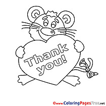 Thank You Animal Colouring Sheet free