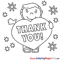 thank you coloring pages free boy stars