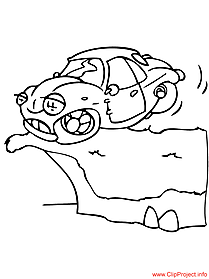 Car coloring image free