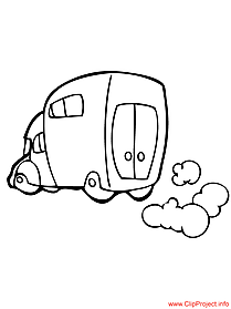 Lorry image to coloring