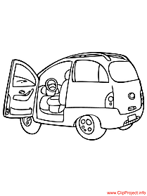 Minivan vehicle coloring sheet free