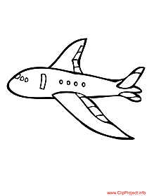 Plane colouring sheet